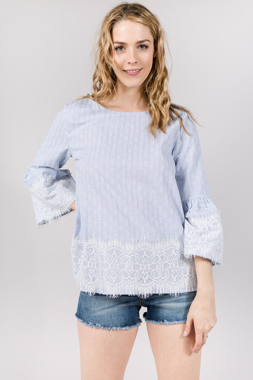 T2067 SCALLOPED STRIPED TOP
