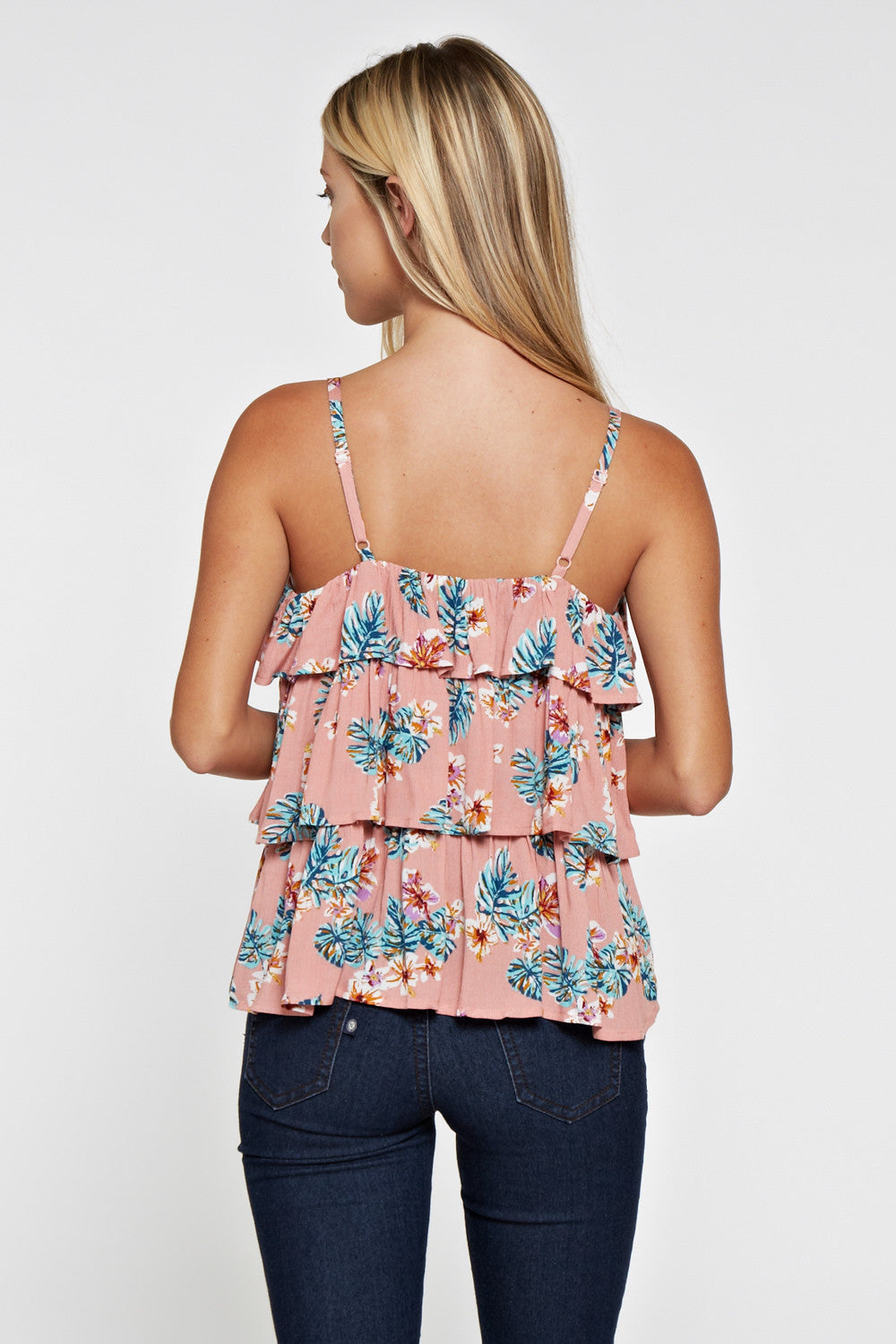T2124 Floral Tier Cami Top