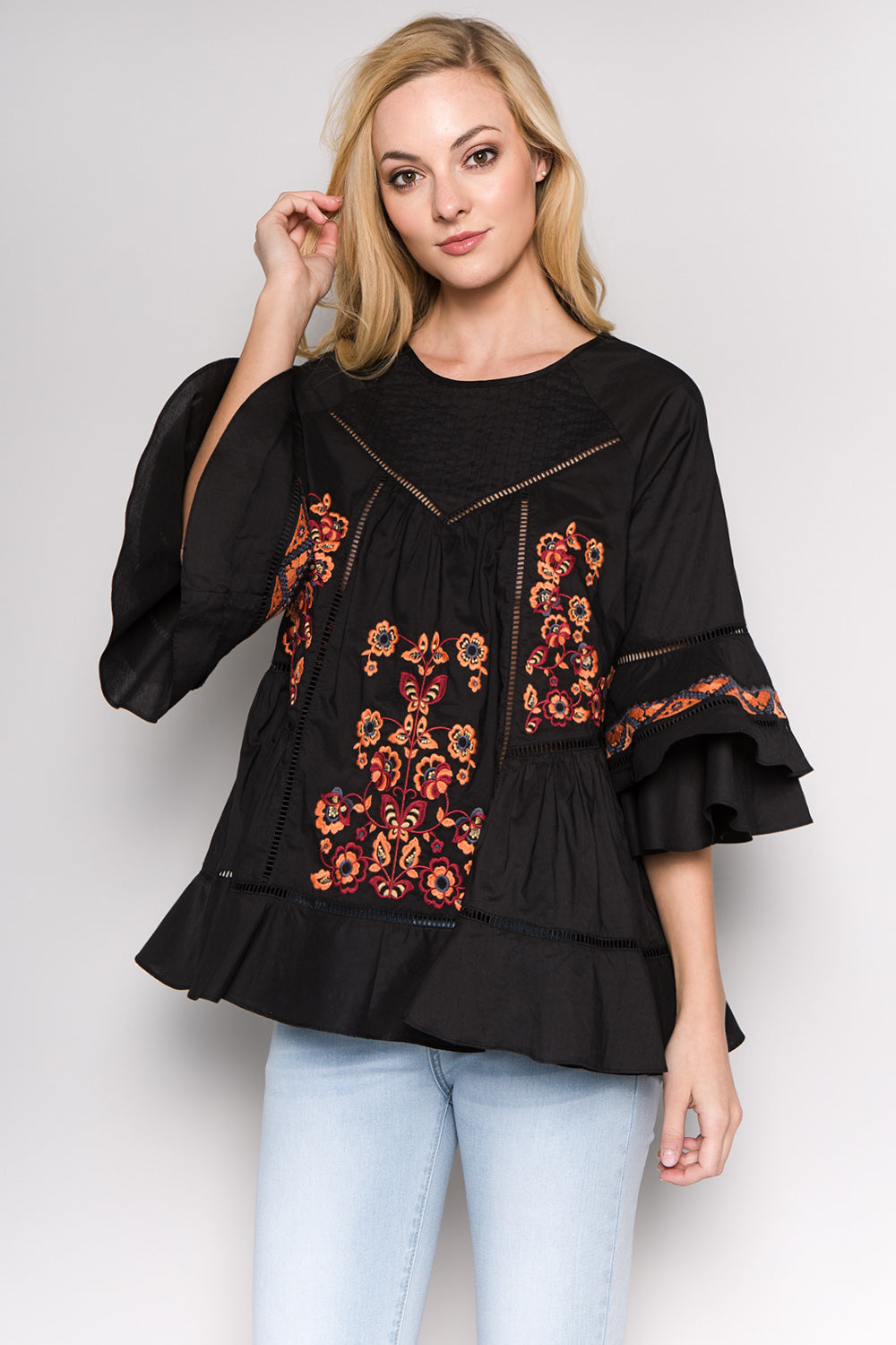 T2252 Embroidery Top