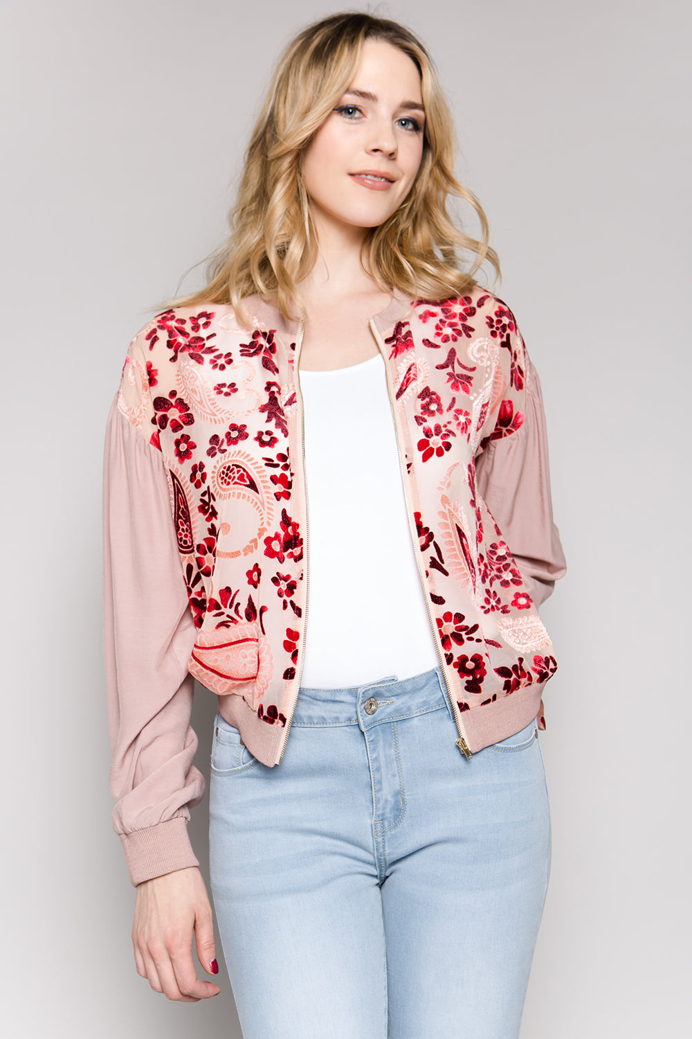 T2317 Floral Burnout Jumper