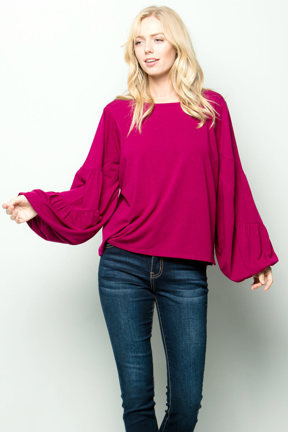 T2609 Bubble sleeve Top