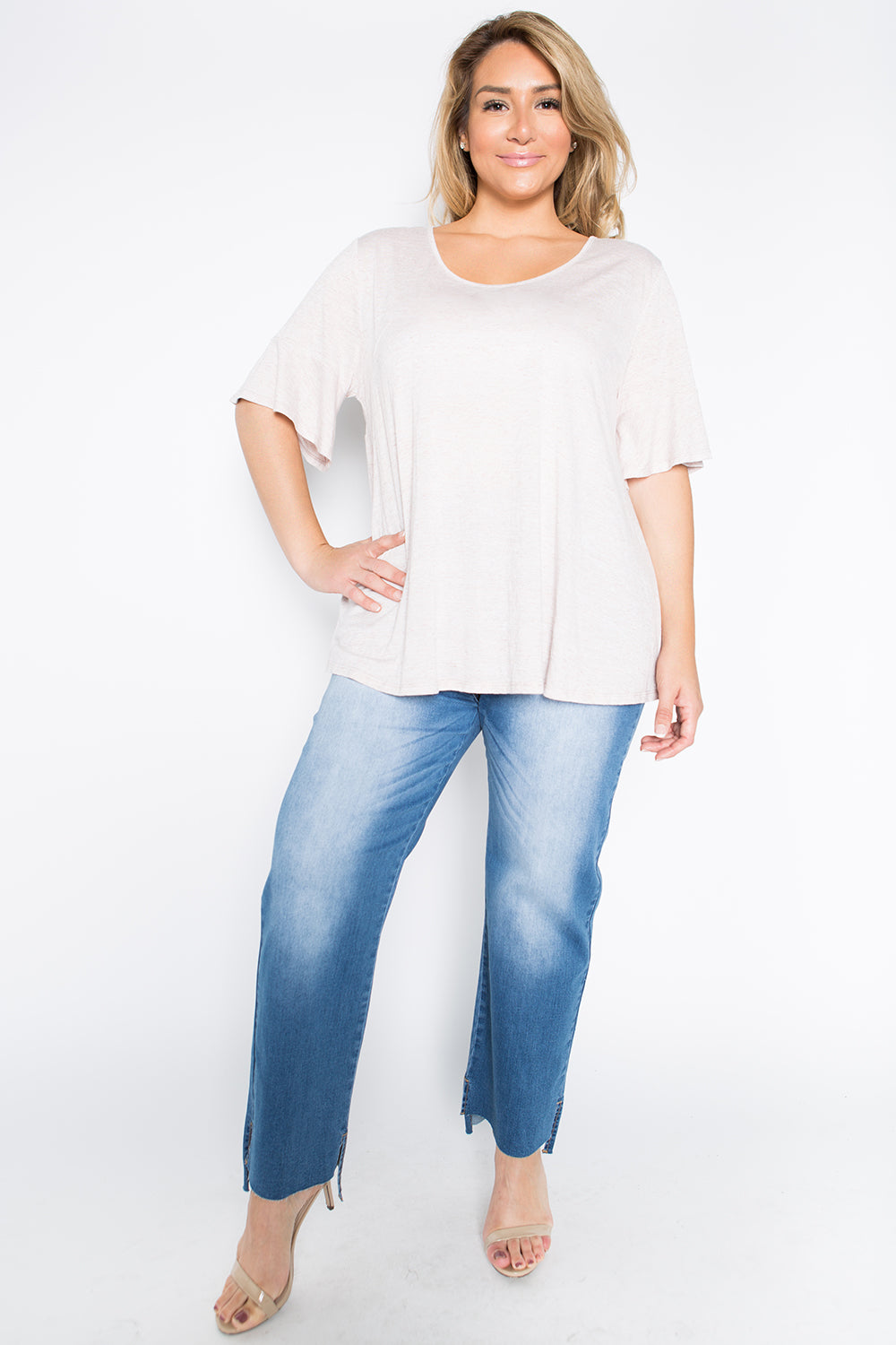 WT2030 bell sleeve Top
