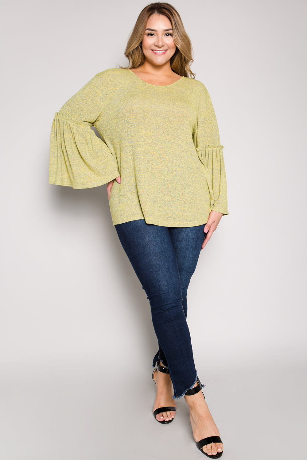 WT2323 Bell Sleeve Top