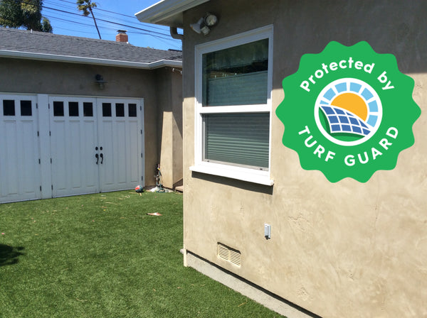 How to Stop Window Glare Melting Artificial Grass with Window Film