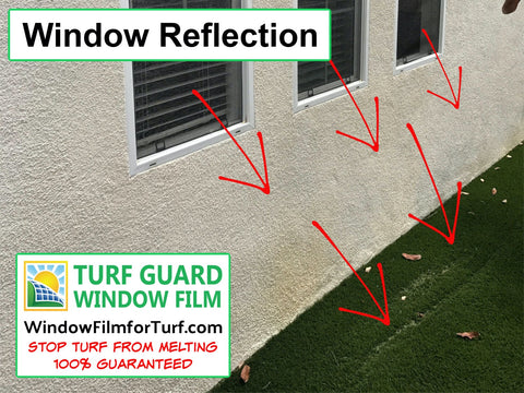 Windows Burning Turf Fake Grass - Houston Texas