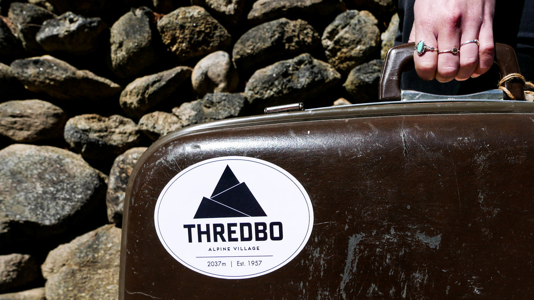 Thredbo Logo Oval Sticker