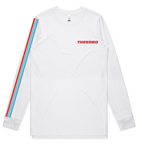 Thredbo Unisex Racing Stripes LS Tee