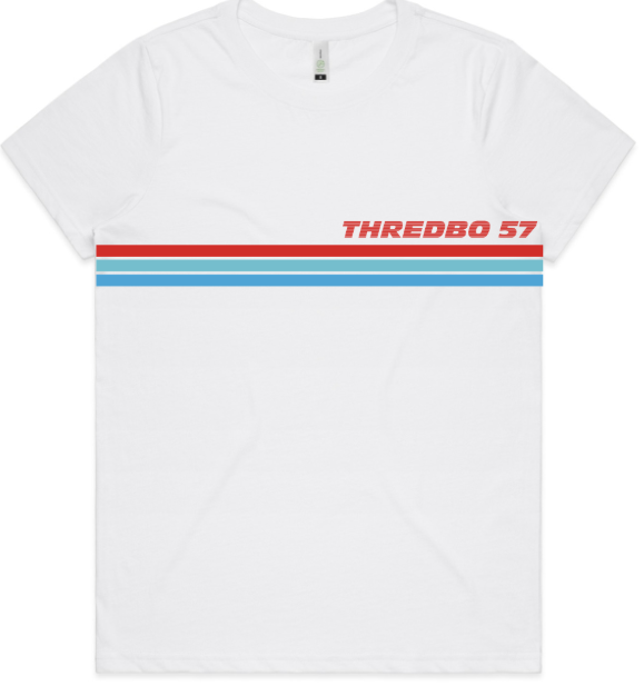 Thredbo Racing Stripes SS Shirt Ladies