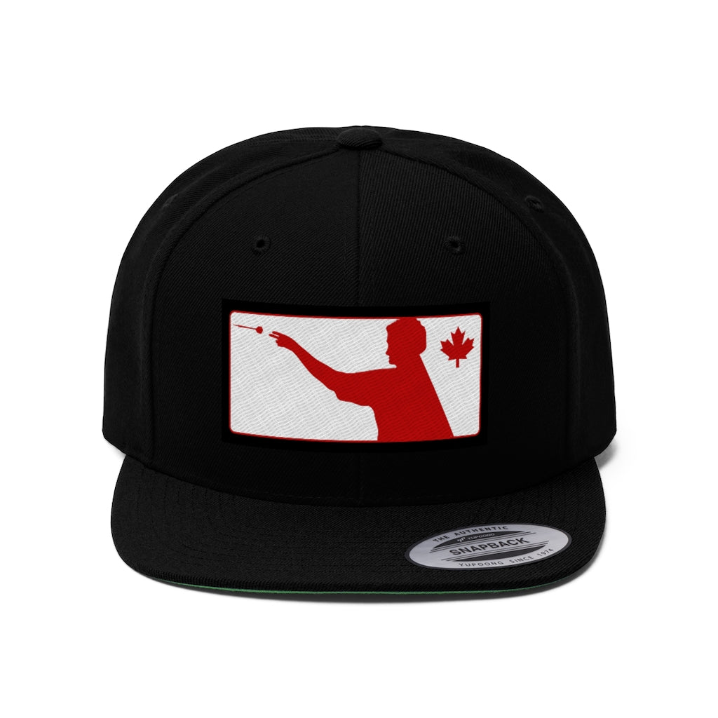 Canadian Darts Unisex Flat Bill Hat