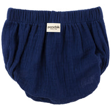 Muslin Cotton Bloomers - French Navy - 0-3, 6-12, 12-18 months only