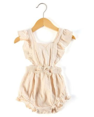 Cross Over Romper - Natural