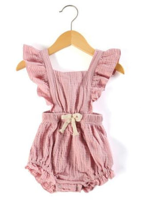 Cross Over Romper - Rose