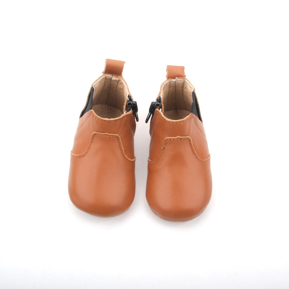 Sienna Baby - Tan Whoa Nally Boots - Hard Sole