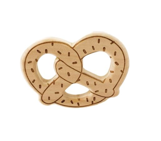 Wooden Teether - Pretzel Ring