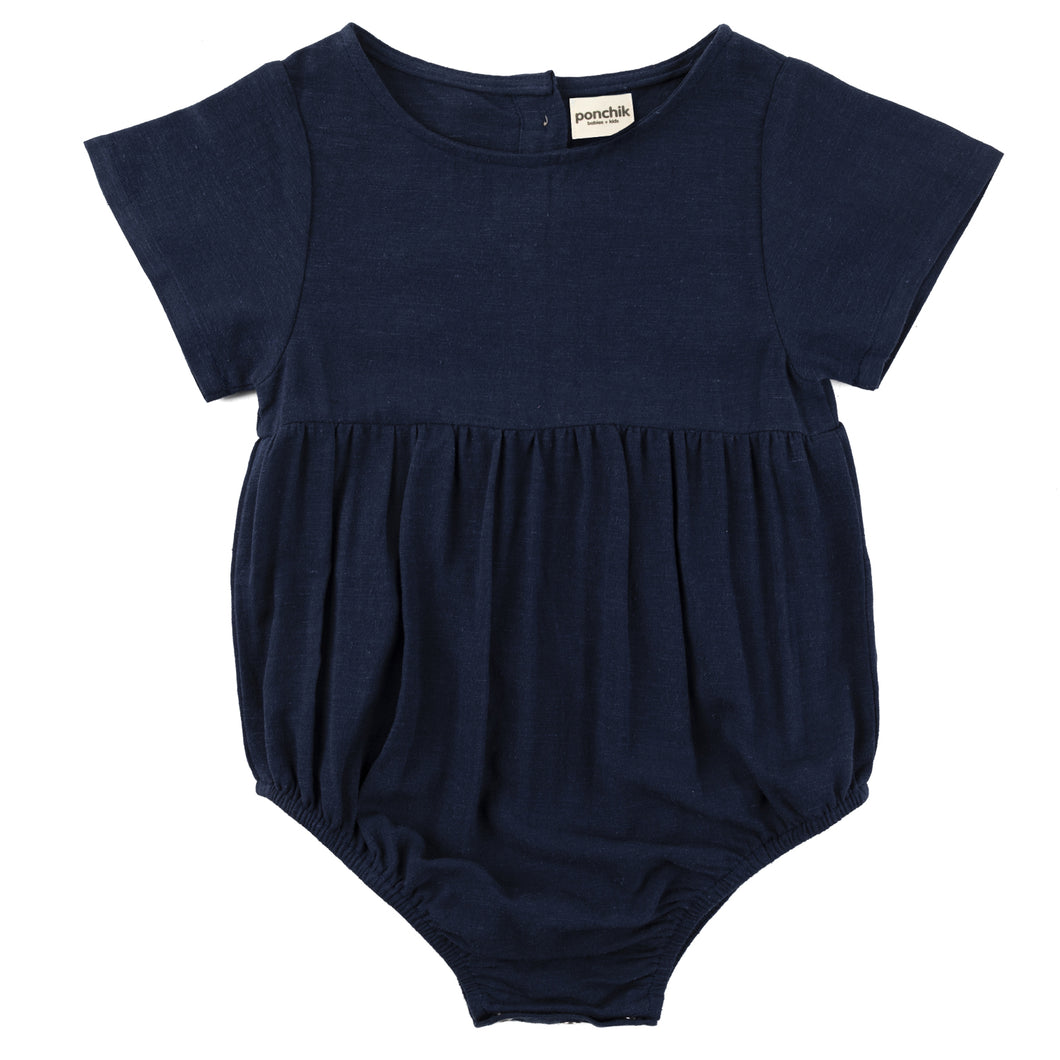 Linen Romper - French Navy