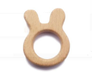 Wooden Teether - Bunny Ring