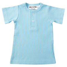 Ribbed T Shirt - Sky Blue