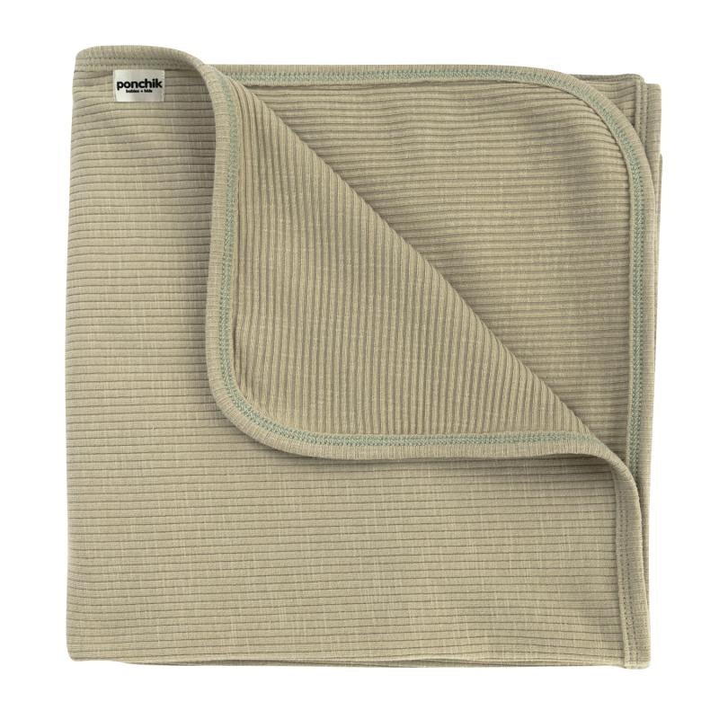 Baby Jersey Ribbed Wrap - Sage