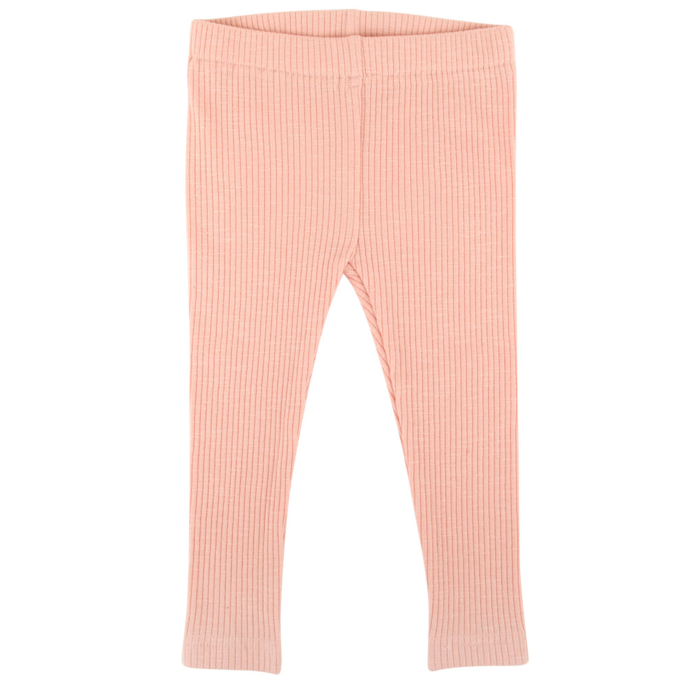 Cotton Ribbed Leggings - Ballet