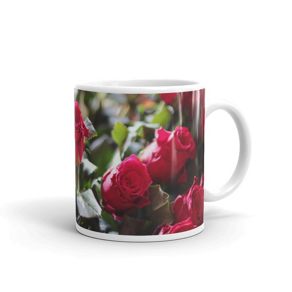 Flowers Every Day Mug - Red Roses
