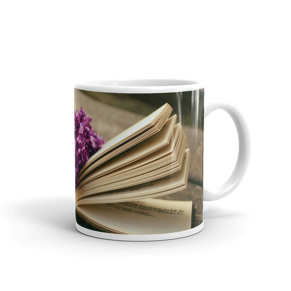 Flowers Every Day Mug - Book Lover Lilacs
