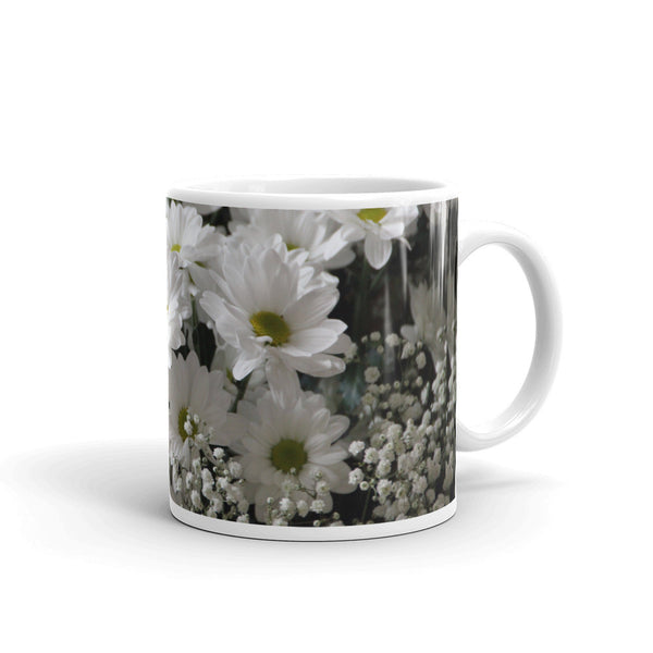 Flowers Every Day Mug - White Bouquet