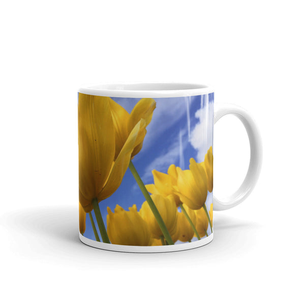 Flowers Every Day Mug - Tulips in the Sky