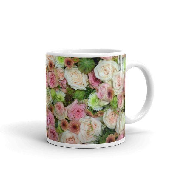 Flowers Every Day Mug - Pink Roses