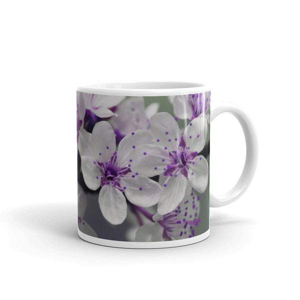 Flowers Every Day Mug - White Violets