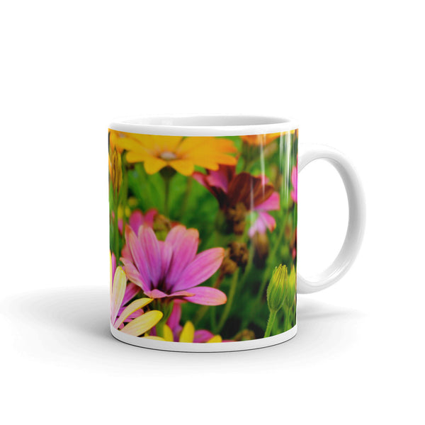 Flowers Every Day Mug - Colorful Daisies
