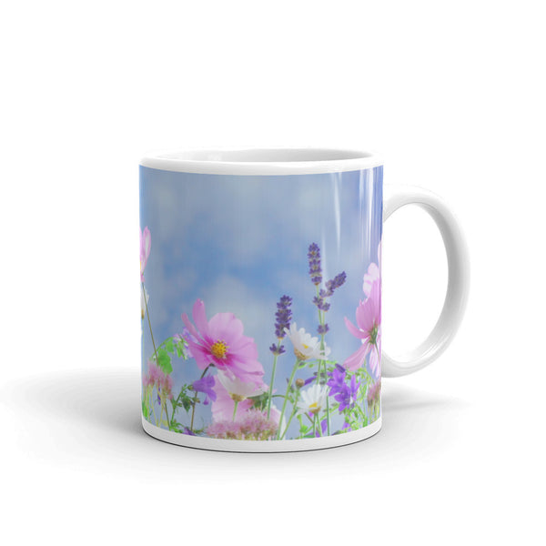 Flowers Every Day Mug - Cosmos Sky