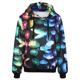 3D Jellyfish Print Sweatshirts Long Sleeve Pockets Phish Hoodies