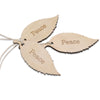 Wood peace leaf tag