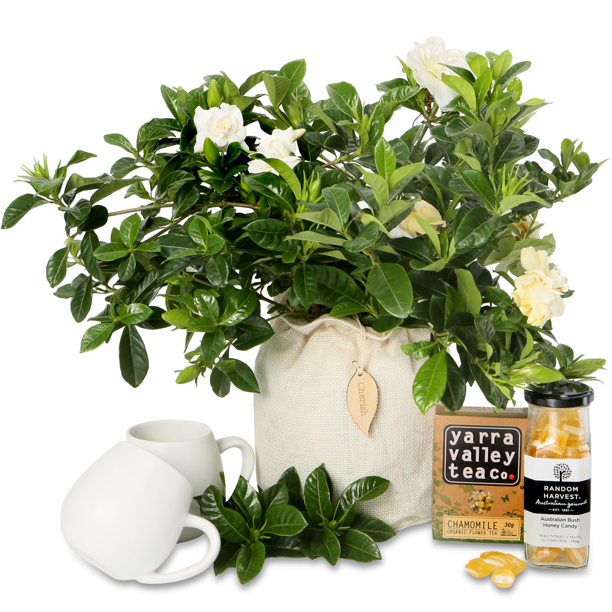 fragrant gardenia relax tea hamper