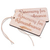 wood Rosemary for Remembrance tag