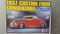 LINDBERG 1/24 1937 CUSTOM FORD CONVERTIBLE