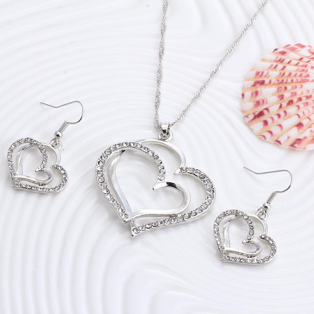 Romantic Heart Necklace Set - Brilliant Hippie