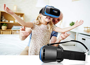 VR Headset for iPhone & Android Phone - Universal Virtual Reality Goggles - Play Your Best Mobile Games 360 Movies With Soft & Comfortable New 3D VR Glasses | + Adjustable Eye Protection System +eBook