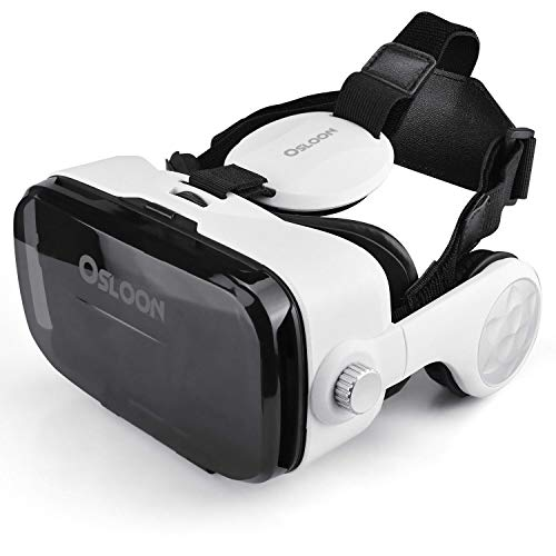 Virtual Reality Headset,Osloon 3D VR Glasses w/Stereo Headphone,Compatible 4.7-6.2 inch iPhone/Android Phone,Including iPhone XS/X/8/8Plus/7/7Plus/6/6Plus/6s/5,Samsung,LG,Nexus etc