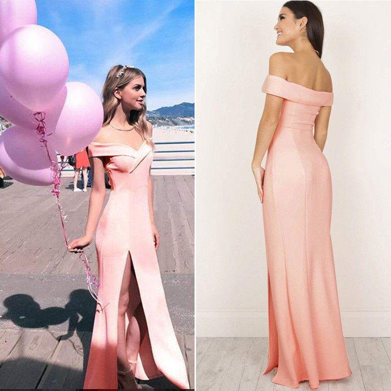 Rita Reynolds Off Shoulder High Waist Long Maxi Dresses