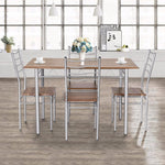 Westminster Modern 5 Pieces Dining Table Set 1 Wooden Dining Table with 4 Dining Chairs