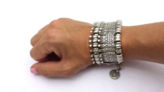Bohemian Silver Retro Vintage Flower Boho Turkish Jewelry - Brilliant Hippie