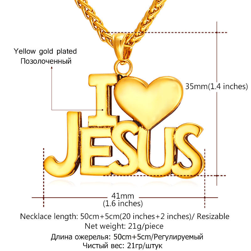 Jesus Heart Necklace - Brilliant Hippie