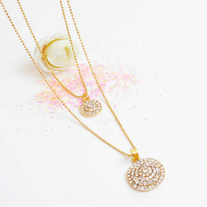 Round Crystal Stones Stylish Necklace, Earrings Wedding Jewelry Sets - Brilliant Hippie