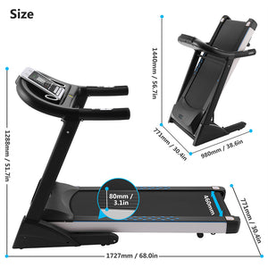 Olympia Exclusive Electric Folding Walking Running Treadmill