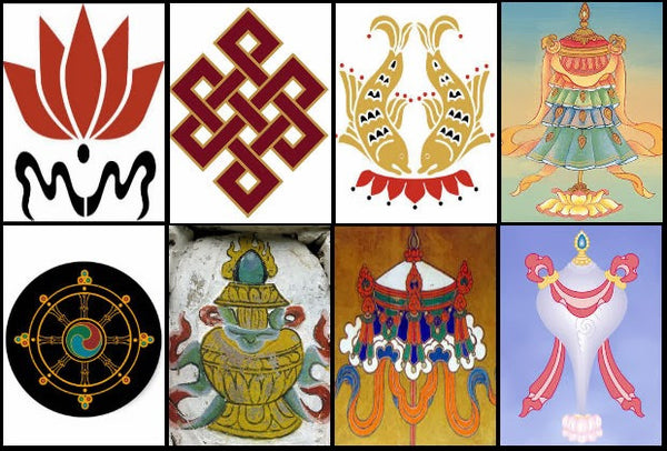 The Astamangala or Eight Auspicious Symbols in Buddhism