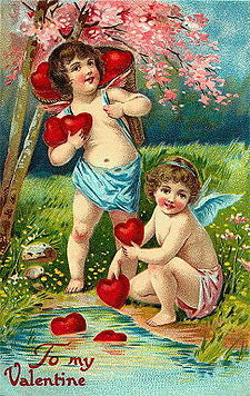 victorian valentines day card