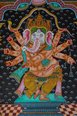 Ganesh patachitra painting