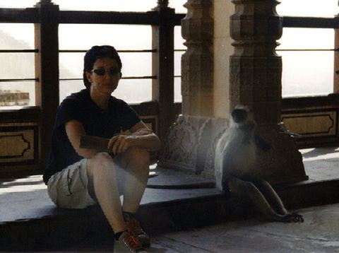kashgar: me and the monkey in jaipur