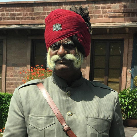 Head doorman at the Ajit Bawan hotel in jodhpur